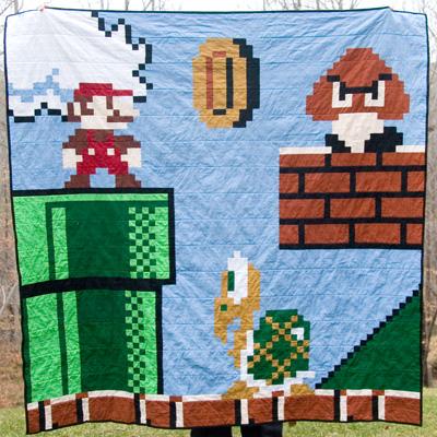 Super Mario: The Hidden Quilt Level | : mario quilt - Adamdwight.com