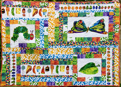 The Very Hungry Caterpillar Quilt… Etsy Version #4 | : caterpillar quilt pattern - Adamdwight.com