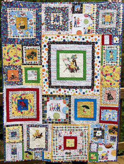 Dick and Jane quilt started Tim Latimer - Quilts etc