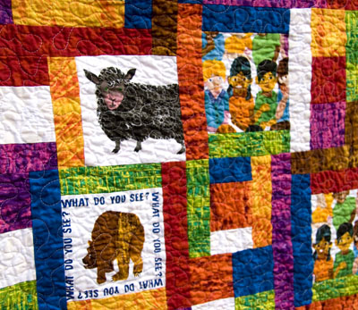 Looking At Me Quilt Featuring Brown Bear Brown Bear Fabrics