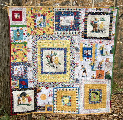 Small and Large Retro Storybook Dick and Jane Quilts | : retro quilts - Adamdwight.com