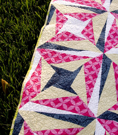 Gelato Swirl: Vibrant One-Block Bed Quilt Pattern - McCall s Quilting