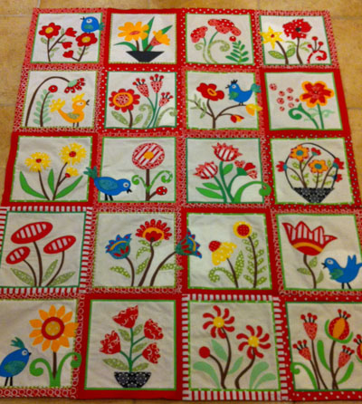 My Whimsical Quilt Garden Progress